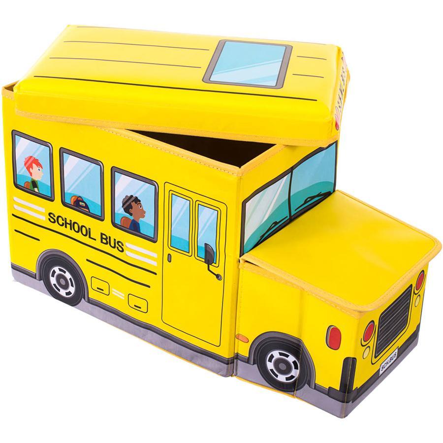 BIECO Sedací lavička a truhla - školní autobus