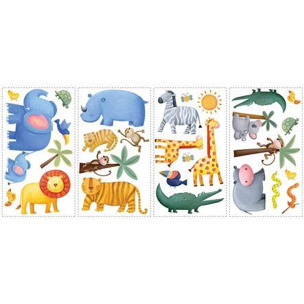 RoomMates® Autocollants muraux animaux de jungle 54234