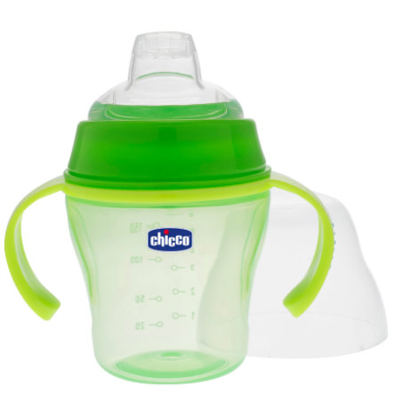 CHICCO Training Bottle with Spout 6+ months green