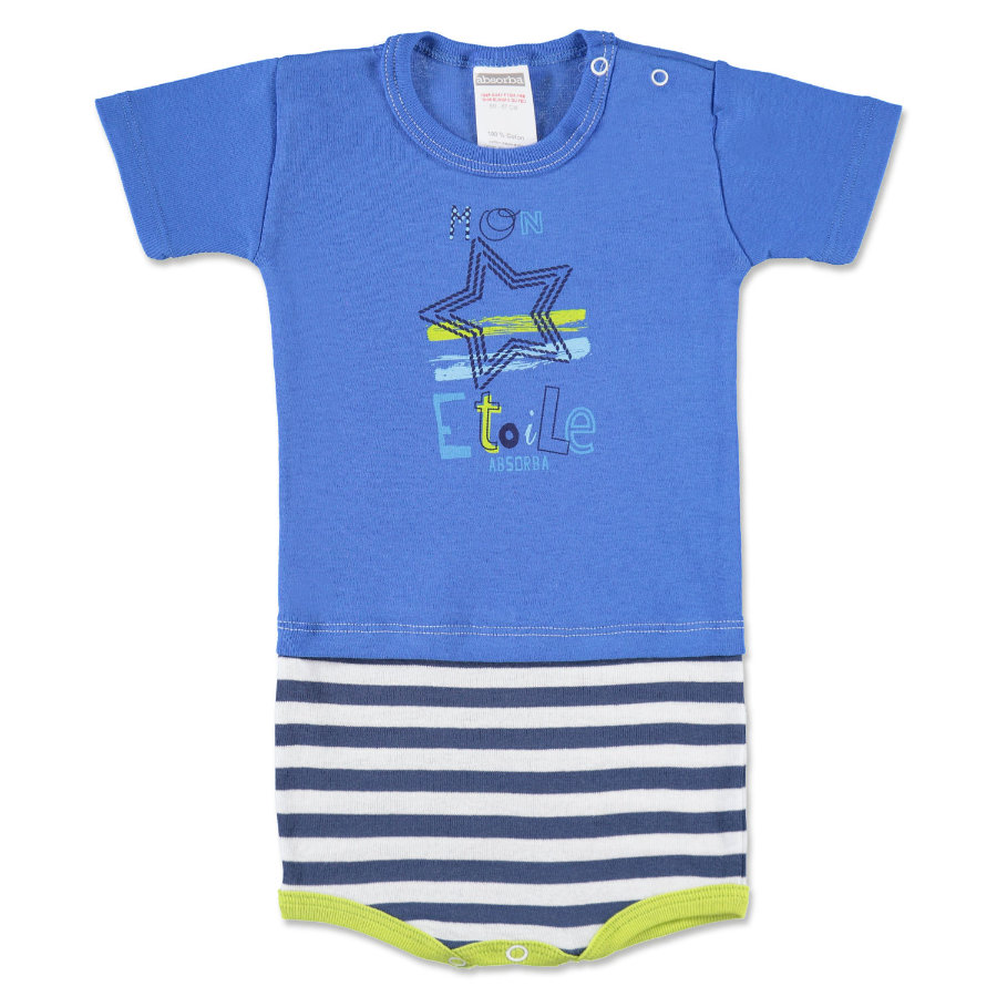 ABSORBA Boys Baby Body Ringel blau