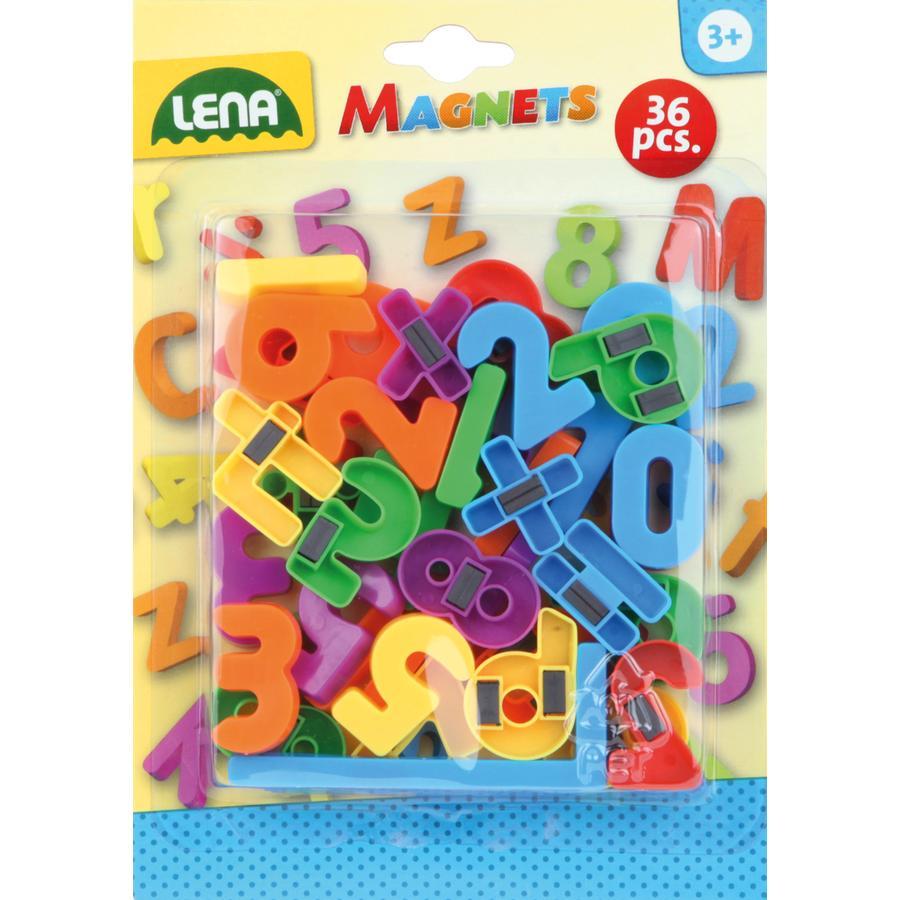 LENA® Chiffres et symboles magnétiques enfant 65747