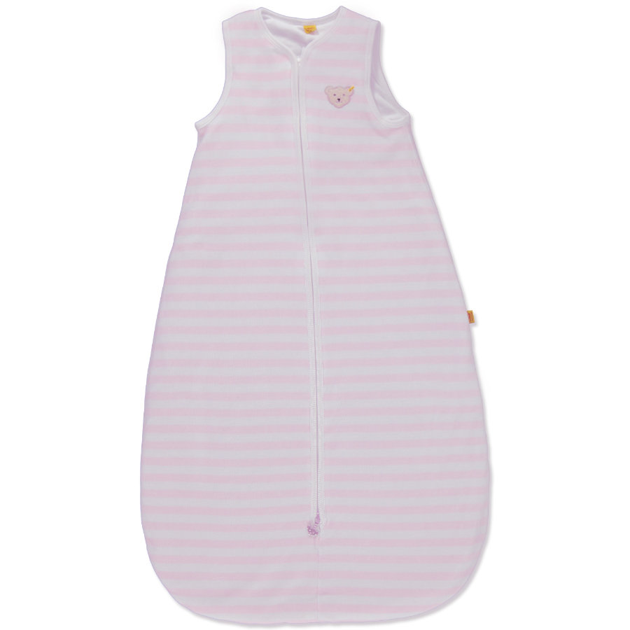 STEIFF Girls Baby Velour Sleeping Bag Stripes Pink