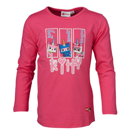LEGO WEAR Girls Tričko s dlouhým rukávem UE LEGO MOVIE Kitty pink