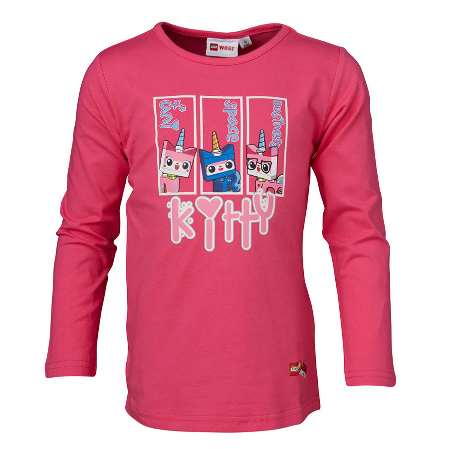 LEGO WEAR Girls Maglia a manica lunga THE LEGO MOVIE Kitty pink
