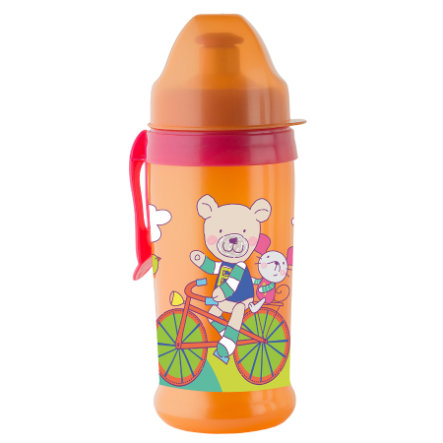 Rotho Babydesign Trinkflasche mit Push Pull Aufsatz raspberry / mandarine