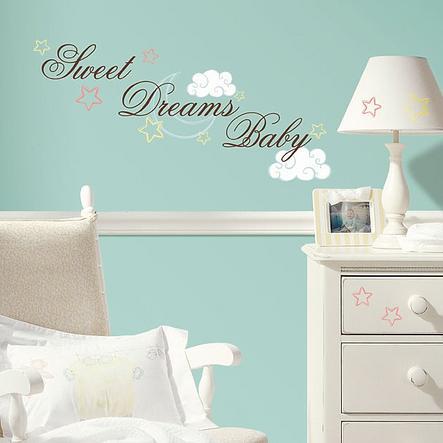 ROOMMATES Väggklistermärken Sweet Dreams Baby