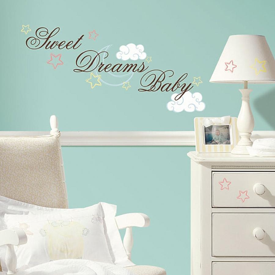ROOMMATES Naklejki ozdobne na ścianę Sweet Dreams Baby