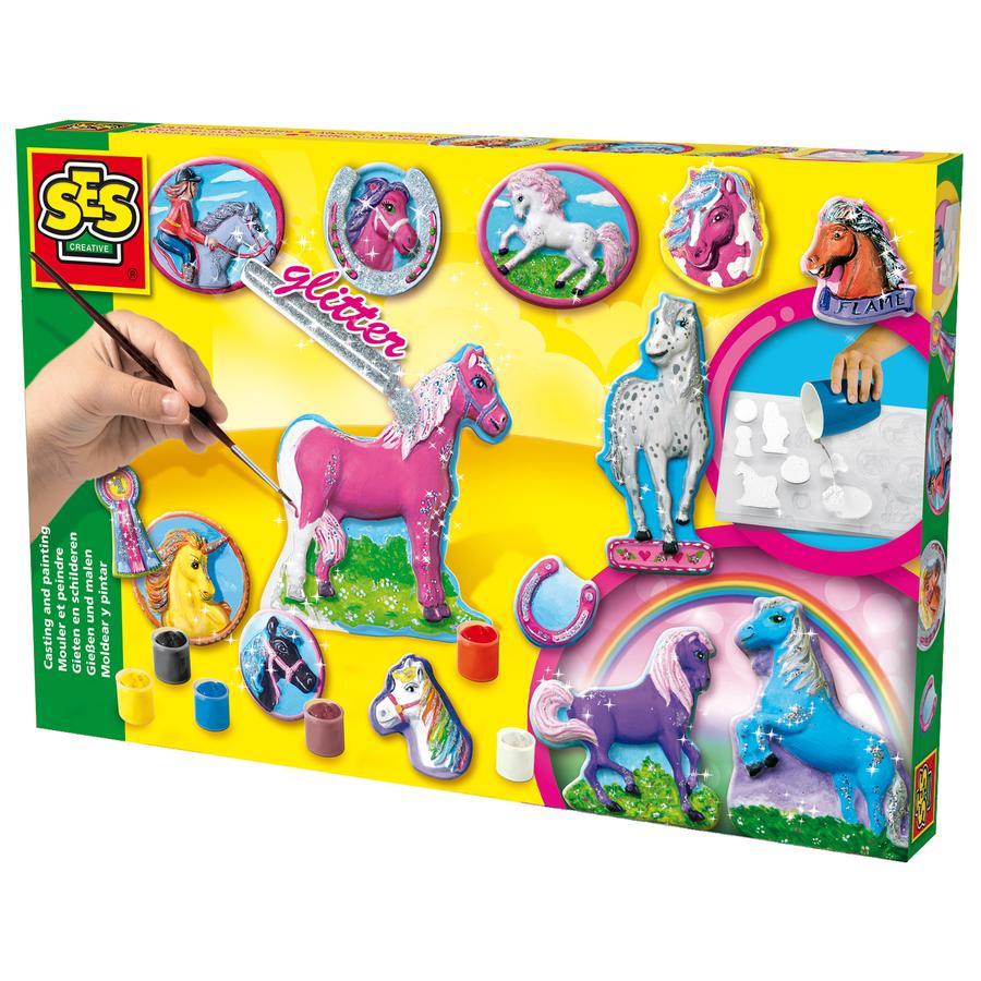 SES Creative® Odlewanie figur z gipsu Konie