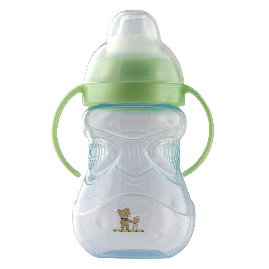 Rotho Babydesign Trinkbecher mit Griffen Baby Blue perl/Lindgrün perl
