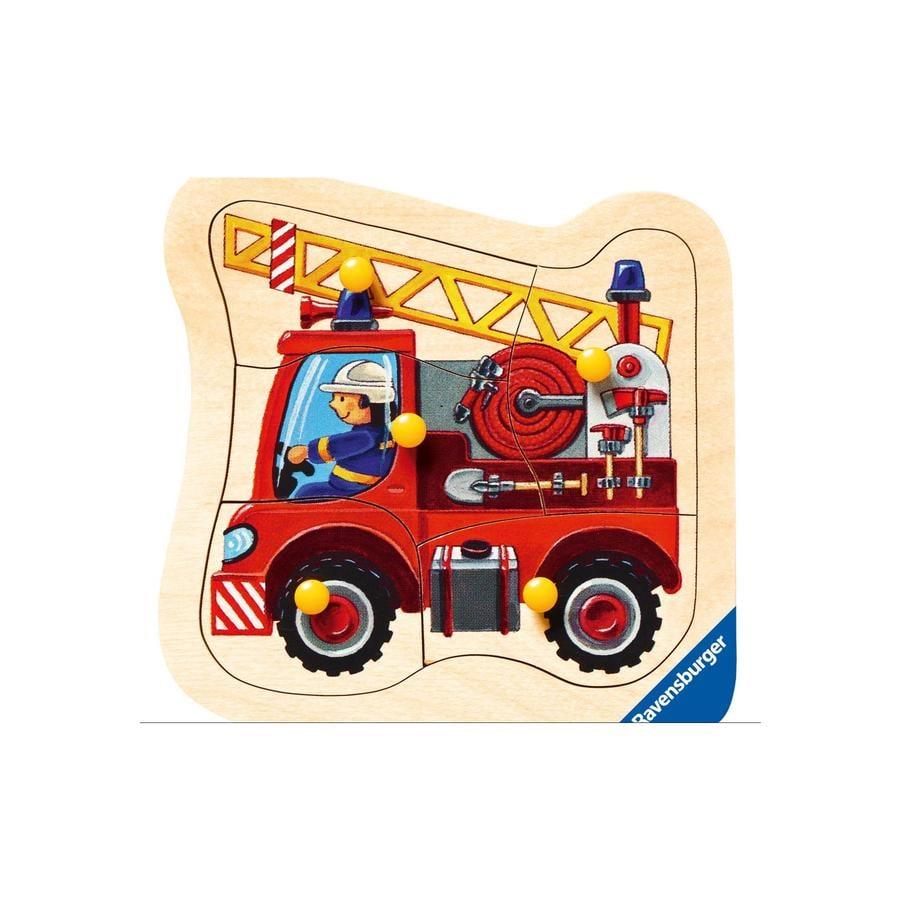 RAVENSBURGER Puzzle en bois Camion de pompier 5 pièces