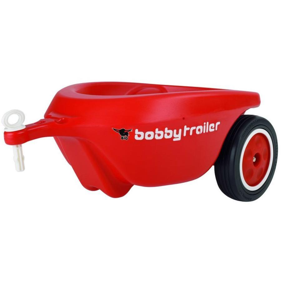 BIG New Bobby Car Trailer mit Flüsterrädern rot