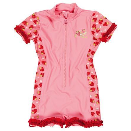PLAYSHOES Combinaison enfant, protection UV, fille, Fraise, rouge