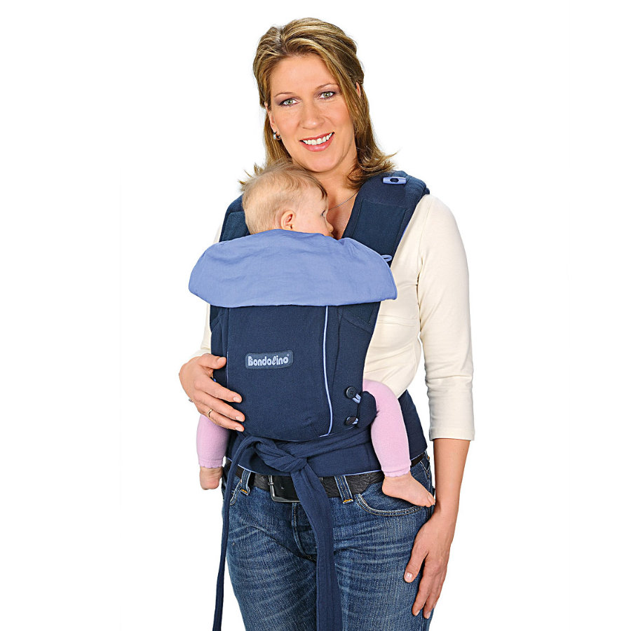 HOPPEDIZ Baby Carrier Bondolino Classic navy-light blue