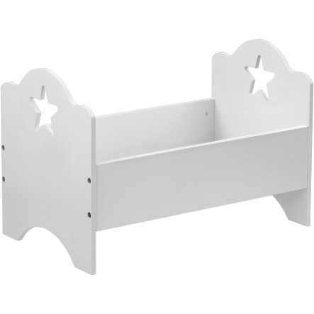 KIDS CONCEPT Doll's Bed Star, white 50x30 cm