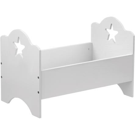 KIDS CONCEPT Postýlka pro panenky, hvězda, bílá,50x30 cm