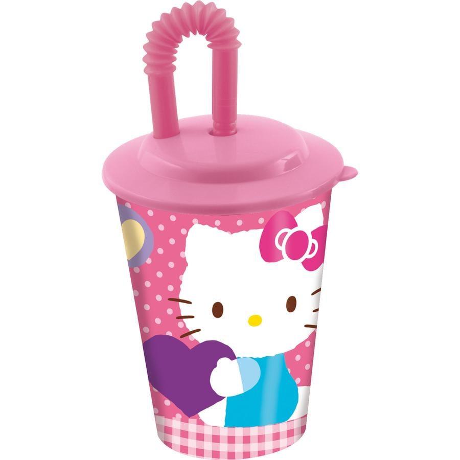 P:OS Hrneček s brčkem - Hello Kitty