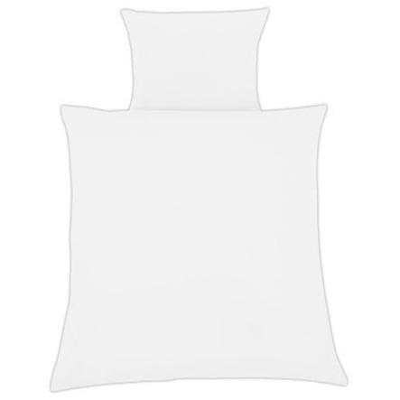 ZÖLLNER Parure de lit 80 x 80 cm blanc uni (4010-0)