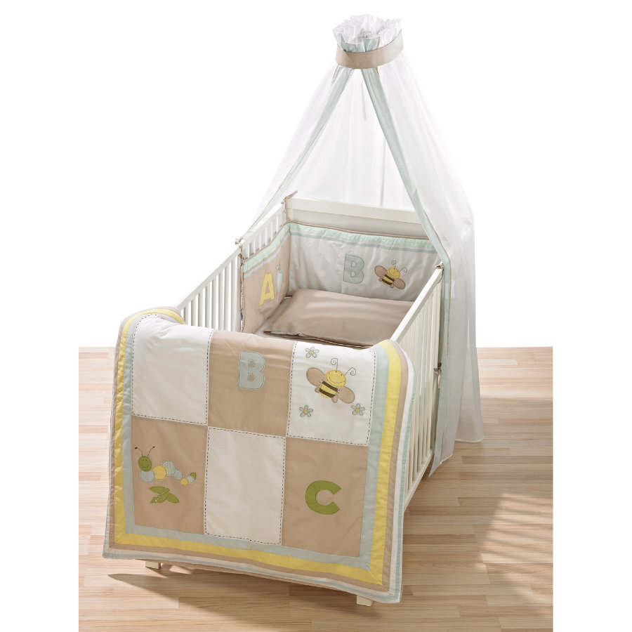 ALVI Set biancheria lettino - Patchwork beige