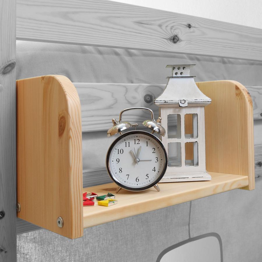 TICAA Mensola piccola per letto a castello e letto rialzato, colore natura