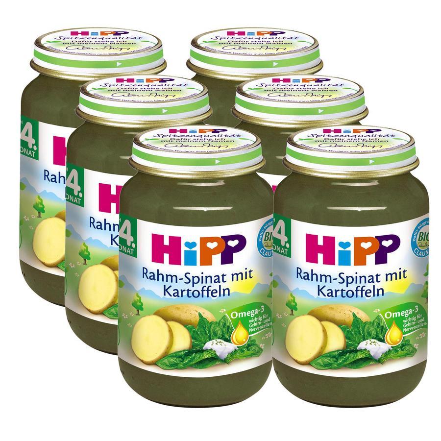 HiPP Rahm-Spinat mit Kartoffeln 6 x 190 g
