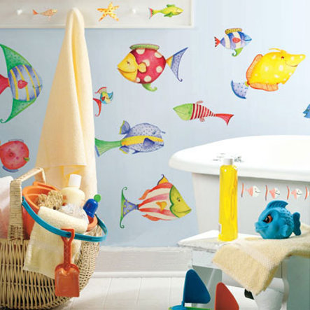 ROOMMATES Wall Stickers Sea Creatures