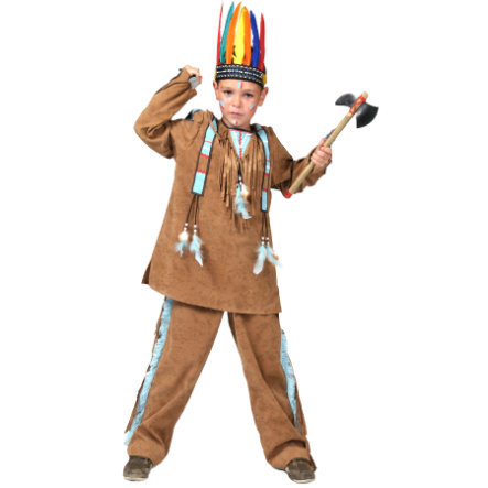 FUNNY FASHION Carnival Costume Indian Boy Anoi