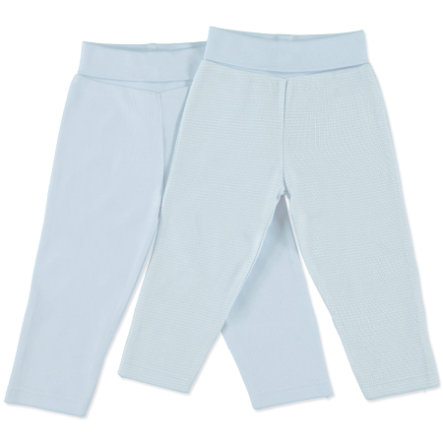 pink or blue Boys Newborn Trousers, 2 pcs. - light blue/white