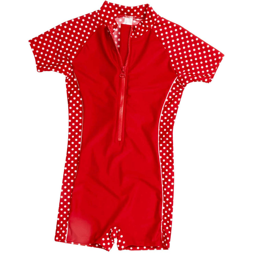 PLAYSHOES UV Schutz Anzug 1-teilig PUNKTE rot
