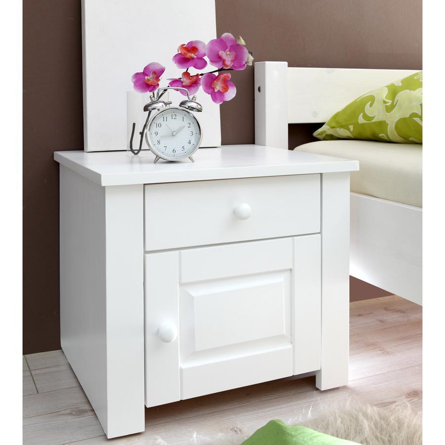 TICAA Table de chevet PIRIN pin blanc