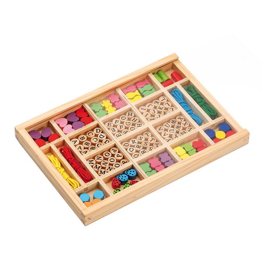 LENA Perles en bois Alphabet