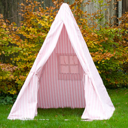 WIN GREEN Maison de jeu - Tipi, rayures rouges