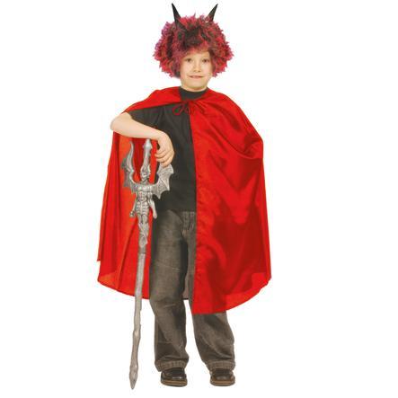 FUNNY FASHION Halloween kostum nylonkappe i rød