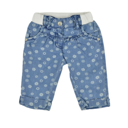 KANZ Girls Mini Jeanshose FLOWERS light blue denim