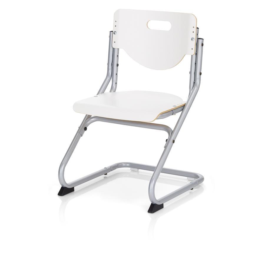 KETTLER Stol CHAIR PLUS, Sølv/hvid 6725-600