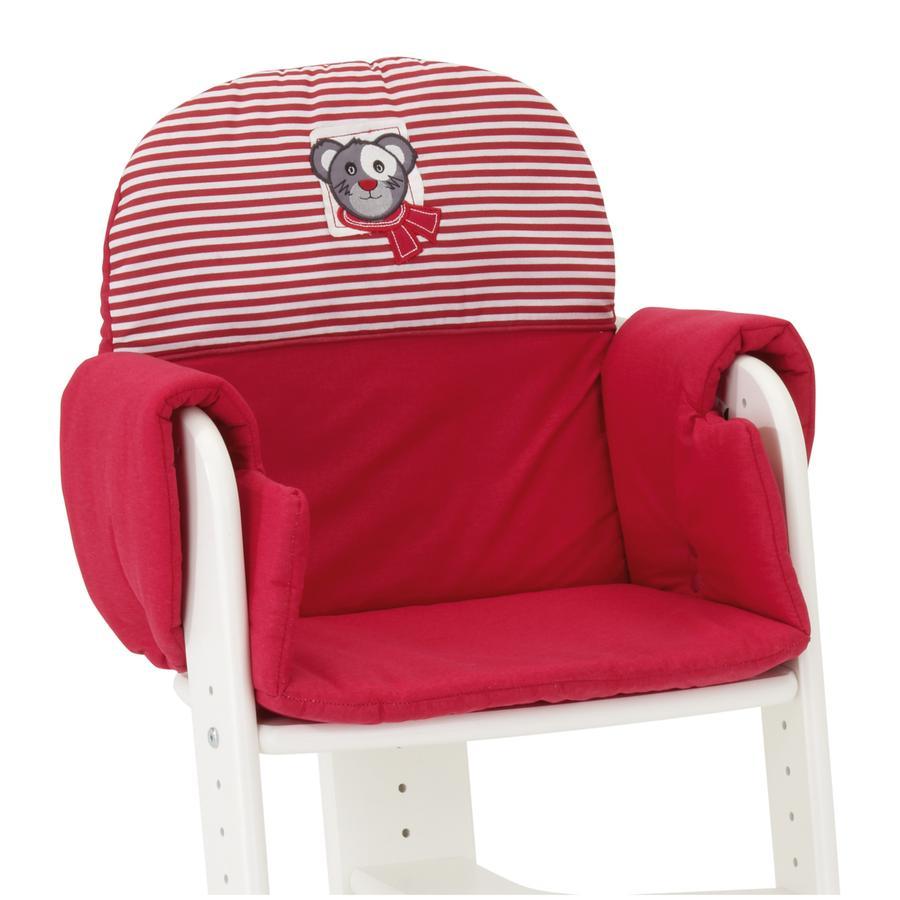 HERLAG Postrovani pro jídelní židličku Tipp Topp IV červena / červeno-bíla proužkovana