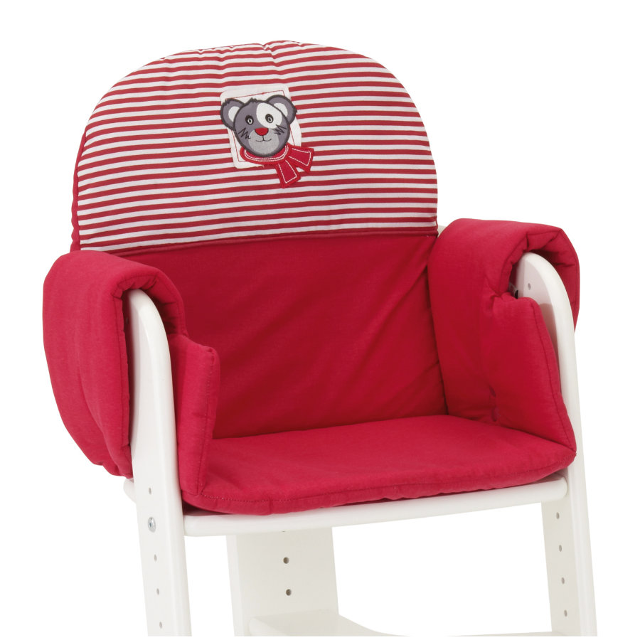 HERLAG Seat Pad Tipp Topp IV red/red and white stripes