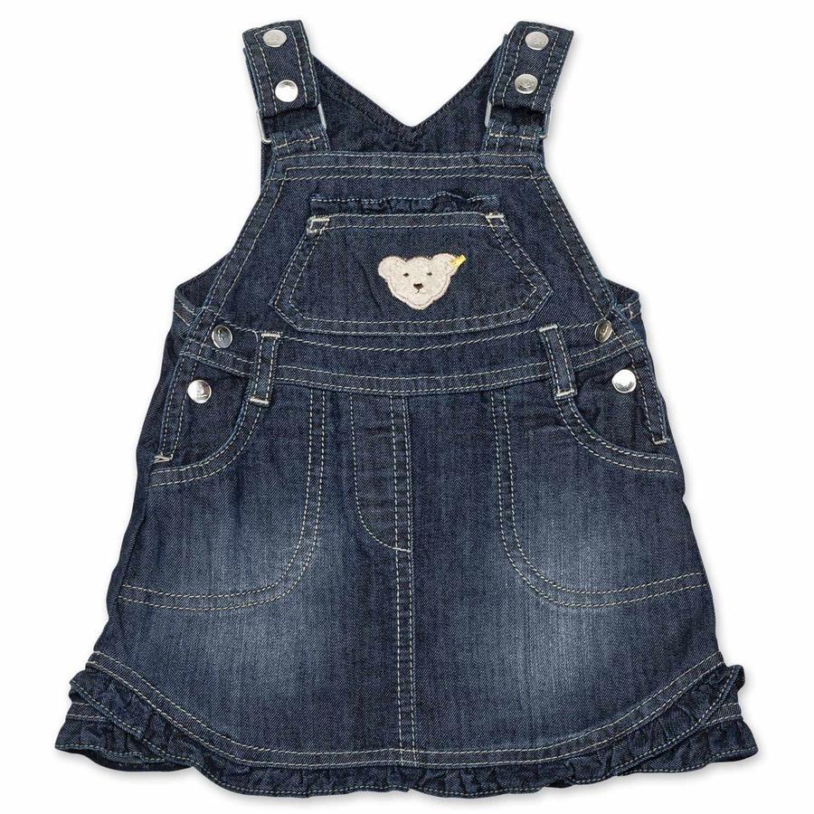 Steiff Girls Jeans-Latzrock
