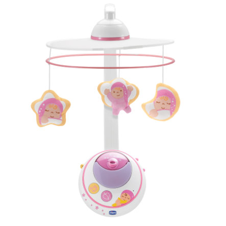 CHICCO Mobile met Sterrenprojector, roze