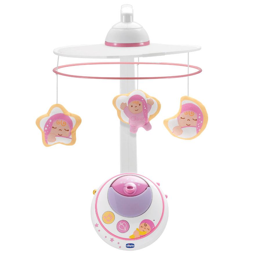 CHICCO Mobile avec projection d'étoiles, rose