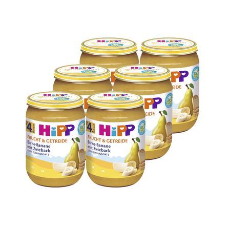 HiPP Bio Birne-Banane mit Zwieback 6 x 190 g