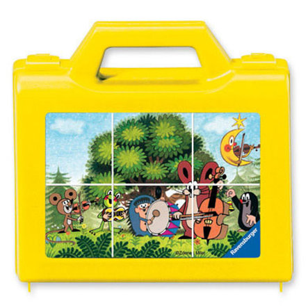 RAVENSBURGER Dice Puzzle The Little Mole in the Garden, 6 pcs.