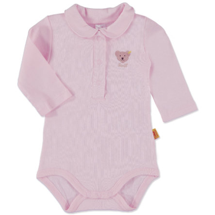 SANETTA Girls Baby Body 1/1 Arm MAUS grey melange