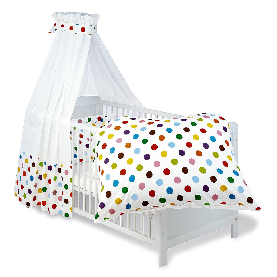 pinolino set f r kinderbett 4 tlg dots baby. Black Bedroom Furniture Sets. Home Design Ideas