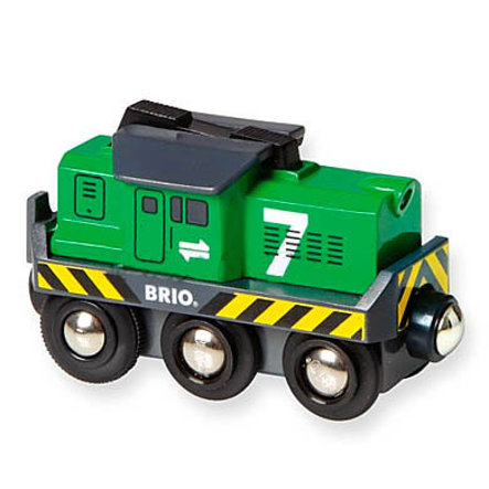 BRIO® WORLD Batterie - Frachtlok 33214