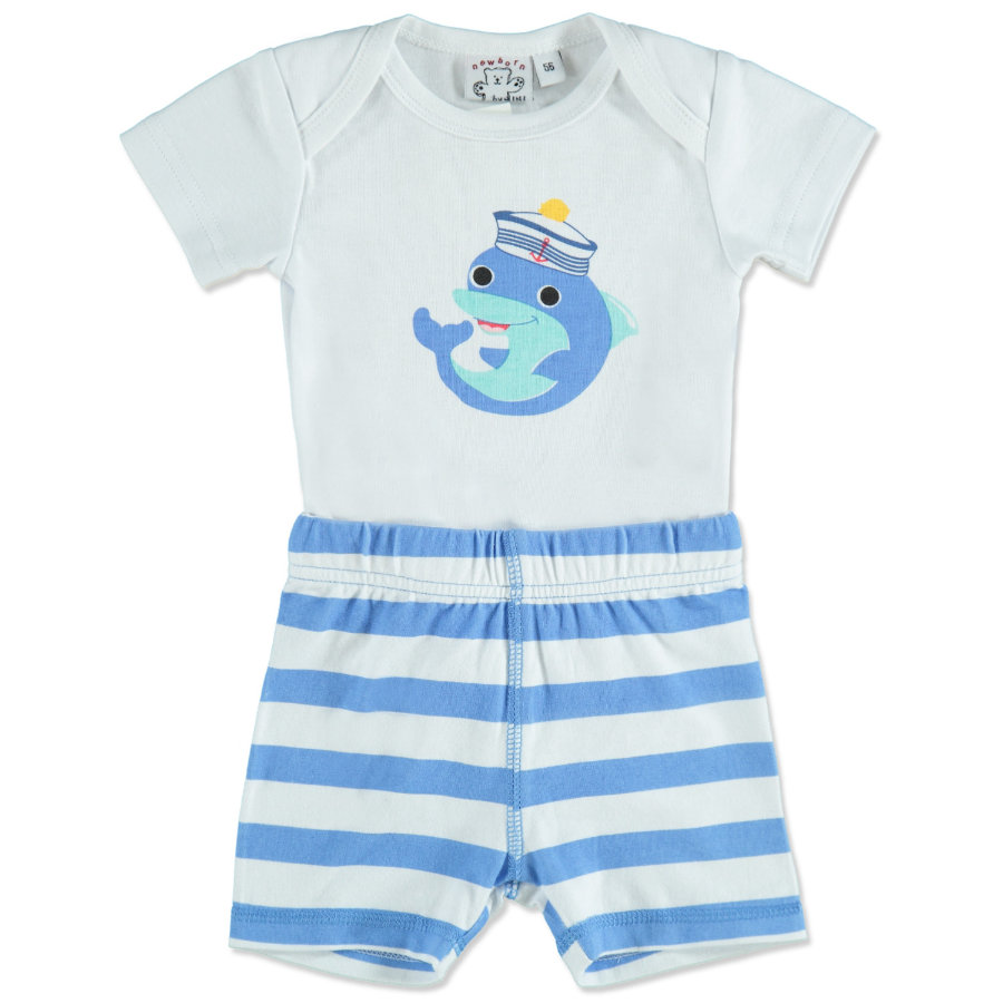 MAX COLLECTION Baby Body + Short MARTIM weiß- blau