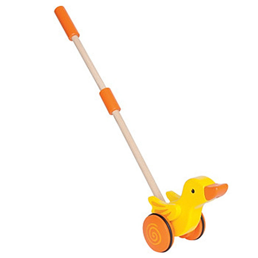 HAPE Push-along Toy Duck