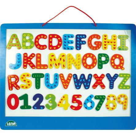 LENA Drewniana tablica + magnesy