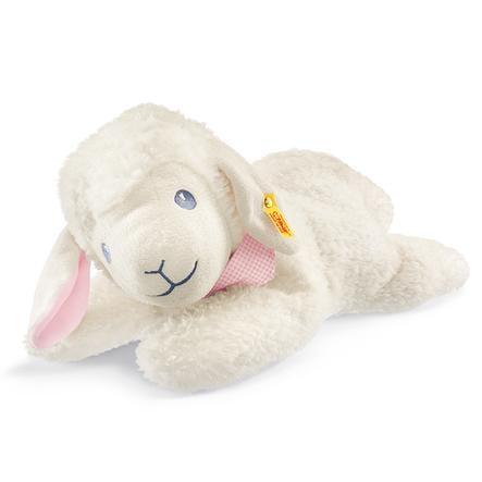 STEIFF Agneau fais de beaux rêves, couché, rose, 48 cm
