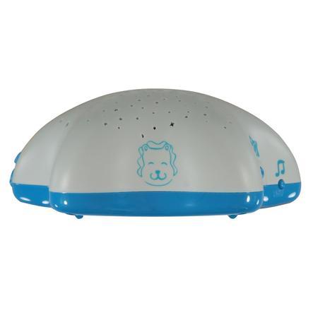 Hudební projektor PABOBO na baterii - bílo/modrý se lvem