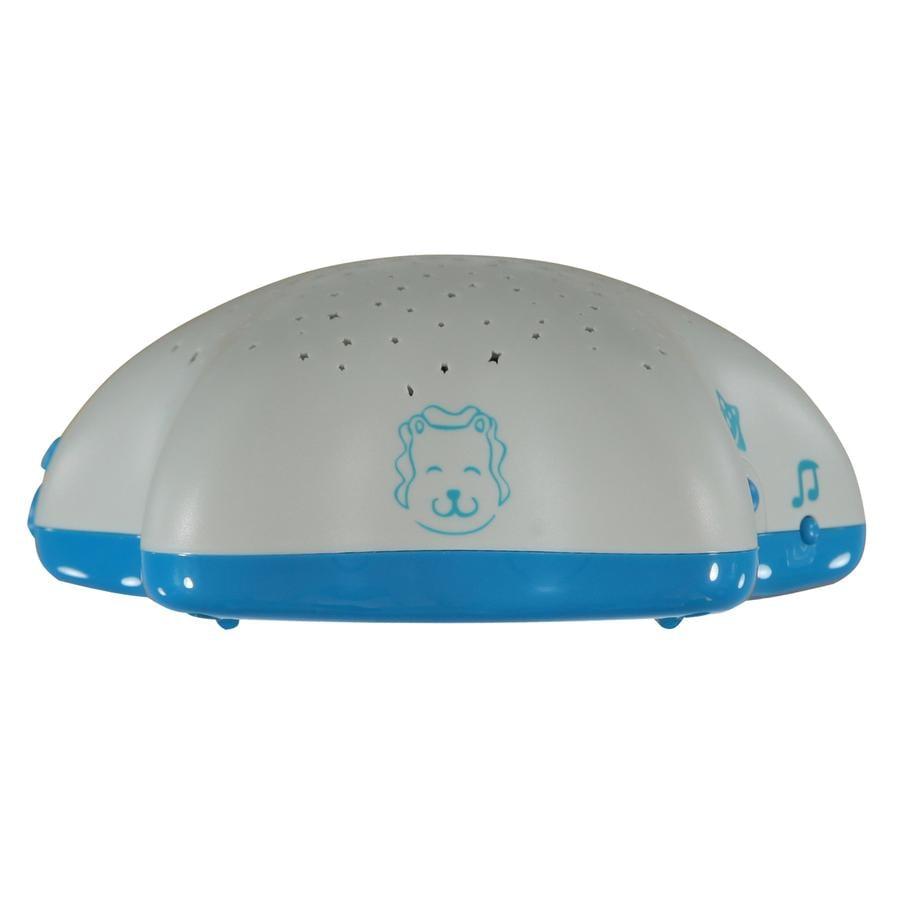 PABOBO Projektor z bateriami Musical Star Lew biało-niebieski